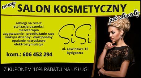 Kupon rabatowy na usługi Salonu Kosmetycznego SISI